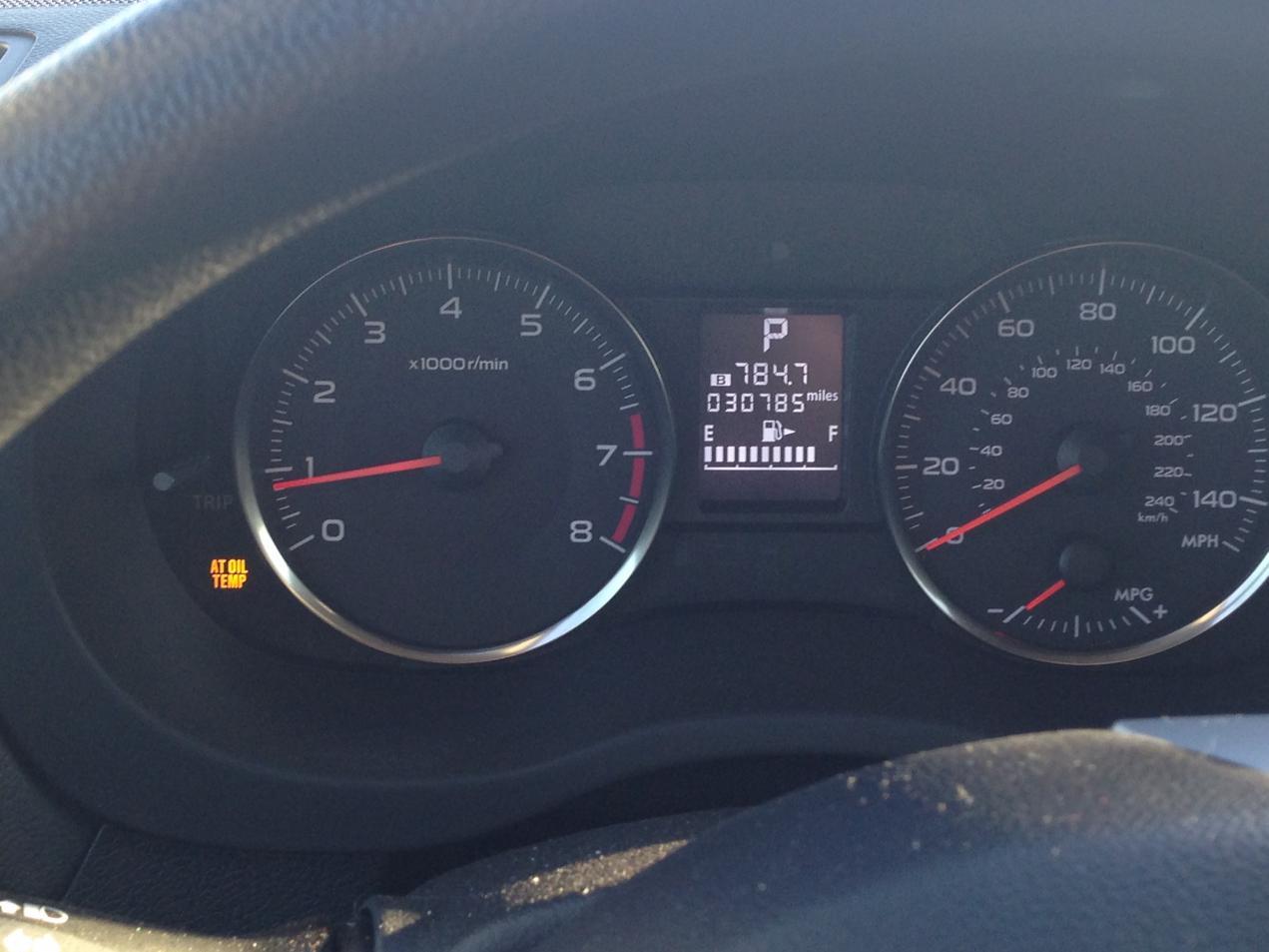 At Oil Temp Light Differential Fluid Change 2015 30k Miles Subaru Xv Crosstrek Forums