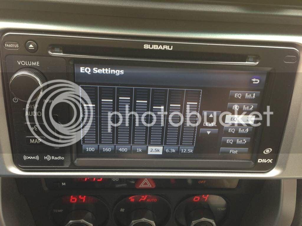 Subaru Equalizer Settings