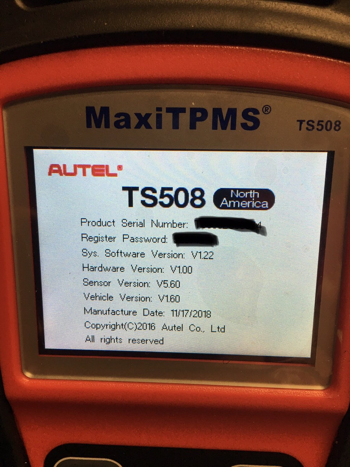 Model Year 2018 and Newer - Autel TS508 TPMS tool/2019